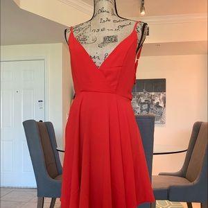 Oranges flared dress!! 😍😍